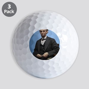 23X35 Abe Lincoln Color Print Golf Balls