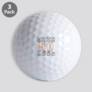 50 Feel Good Look Good Golf Balls