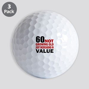 60 Not Growing Old Golf Balls