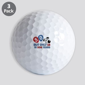 Funny 50 Years Old Birthday Golf Balls