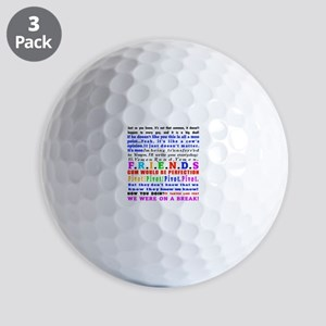 Friends Quotations Golf Balls