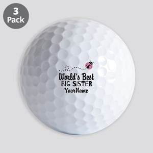 Worlds Best Big Sister - Personalized Golf Balls