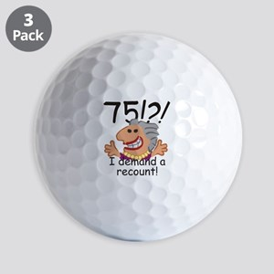 Recount 75th Birthday Golf Ball