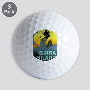 Birra Milano Vintage Advertisement Golf Ball