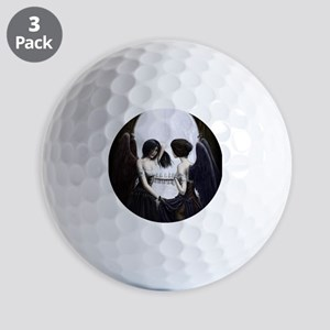 skull illusion coloured gn high res Golf Balls