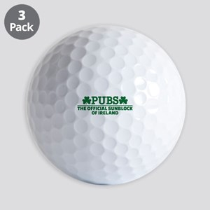 Pubs official sunblock of Ireland Golf Balls