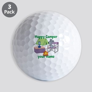Custom Happy Camper Mouse Golf Ball