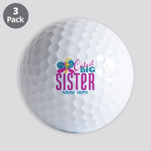 Personalized Big Sister Golf Balls