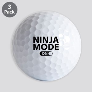 Ninja Mode On Golf Balls