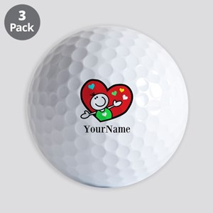 Happy Heart (p) Ball Golf Balls