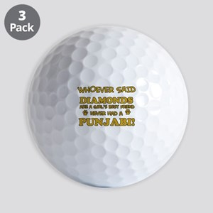 Punjabi Cat breed designs Golf Balls