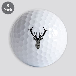 Classic Stag Deer Head Black Grey Anima Golf Balls