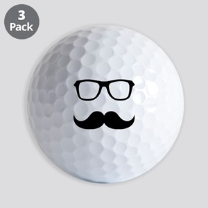 Mustache Glasses Golf Balls