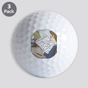 Anatomy Test Golf Balls