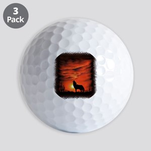 Coyote Howling Golf Balls