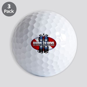 Born To Dive (ST) Golf Ball