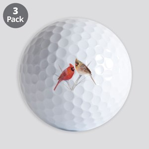 Northern Cardinal Mates Golf Balls