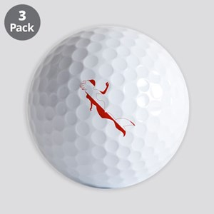 Mermaid Diver Golf Balls