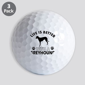 Greyhound dog gear Golf Balls