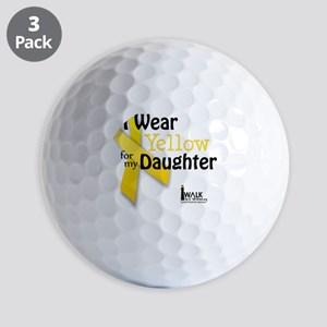 i_wear_yellow_for_my_daughter_updated Golf Balls