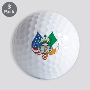 Ancient Order Of Hibernians Emblem Ball Golf Balls