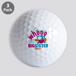 Personalized Big Sister - Owl Golf Balls