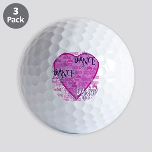 dance dance dance purple text copy Golf Balls