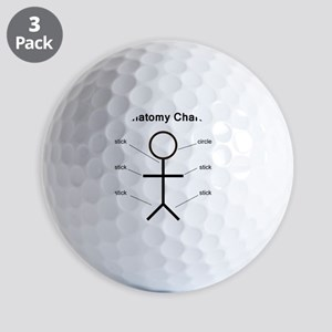 anatomy Golf Balls