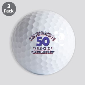 Celebrating 50 years of awesomeness Golf Balls