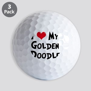 I-Love-My-Golden-Doodle Golf Balls