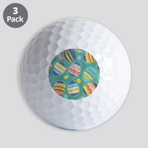 Easter Eggs Golf Ball