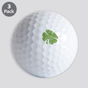 love_shamrock_white Golf Balls
