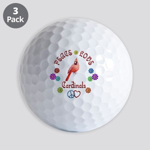 Peace Love CARDINALS Golf Balls