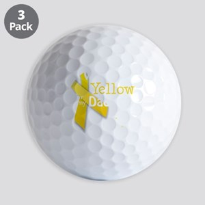 trans_i_wear_yellow_for_my_daddy_update Golf Balls