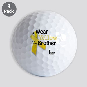 I Wear Yellow for my Brother Golf Balls