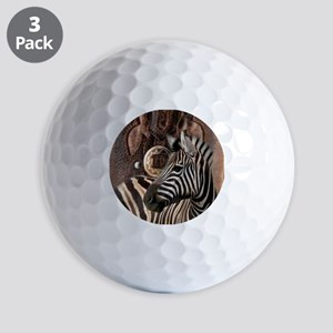 wild zebra safari Golf Balls