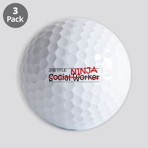 Job Ninja Social Worker Golf Balls