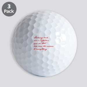 looking-back-love jane red Golf Ball
