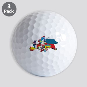 Flags map of Europe Golf Balls