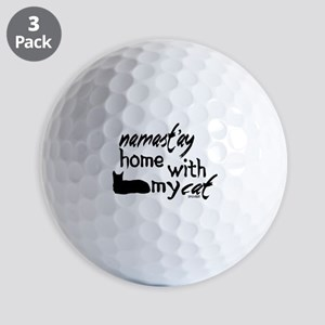 Namast'ay Home with My Cat Golf Balls