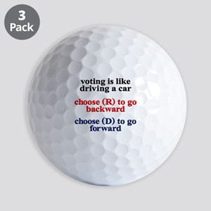 Democrat Voting/Driving Golf Balls