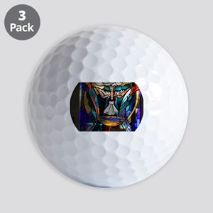 stained glass window blue Golf Balls