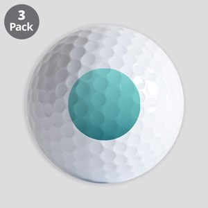 watercolor teal ombre Golf Balls