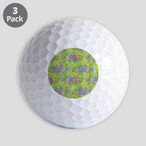 Paisley Doodles Lime Golf Balls
