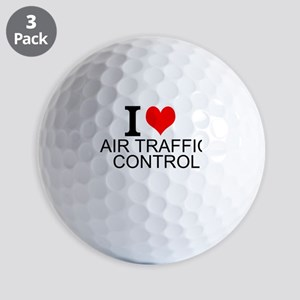 I Love Air Traffic Control Golf Ball