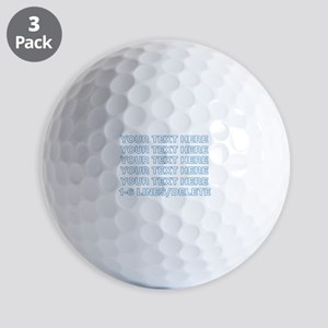 Personalized Customized (Blue) Golf Balls