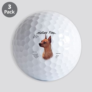 Min Pin (red/rust) Golf Balls