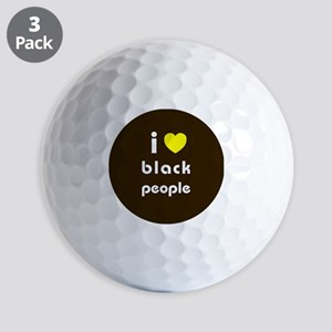 i love black people Golf Balls