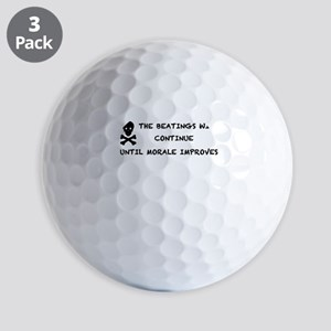 THE BEATINGS BLACK Golf Balls