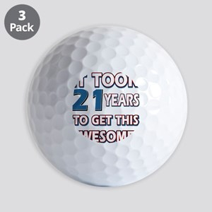 21 Year Old birthday gift ideas Golf Balls